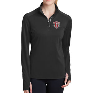 Statement - Ladies Sport Wick ® Textured 1/4 Zip Pullover Thumbnail